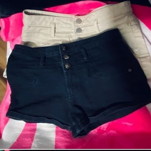 Bundle of 2 mid-rise three button shorts as 11
